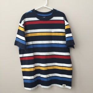 Gap Boys Multi-Colored Stripe T-Shirt Size M (7-8)